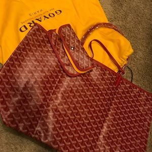 Authentic Red Goyard tote, gm, new
